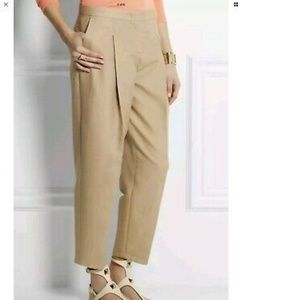 Burberry London Melville Pleated Pants in Honey